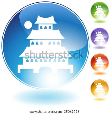 japanese pagoda icon crystal