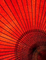 japanese red umbrella