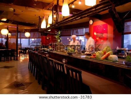 Japanese Restaurant - stock photo