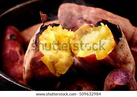 Japanese roasted sweet potato  #509632984