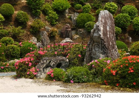 Japanese rock garden in Tofku-ji temple (Kyoto)