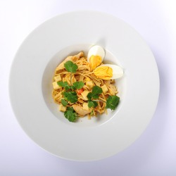 Japanese salad with eggs, top