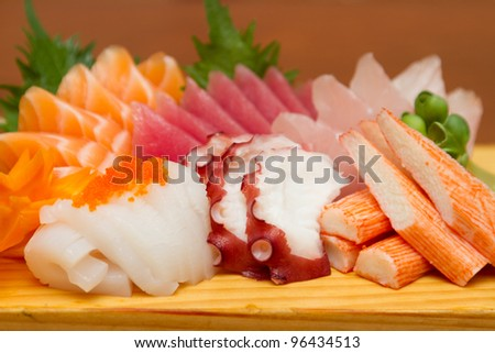 Japanese sashimi  set mix