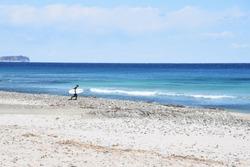 Japanese scenic spot / Izu Shirahama Beach in Shimoda City, Shizuoka Prefecture.
