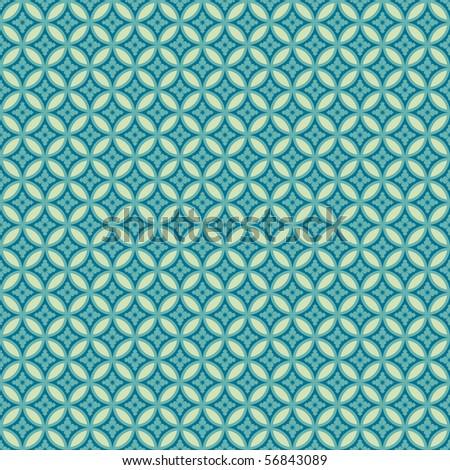 Japanese seamless pattern. Editable colors (raster version)