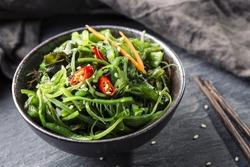 Japanese seaweed salad in a bowl