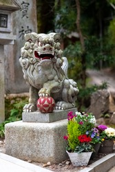 Japanese shrine guardian dog-lion or also known as