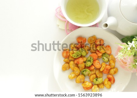 Japanese snack food, seasoning dried broad bean