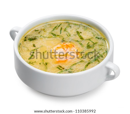 Japanese soup with prawns