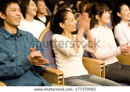 Japanese students in Auditorium hall  #177370082