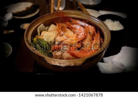 Japanese sukiyaki in Japanese restaurant, Japanese Food #1421067878