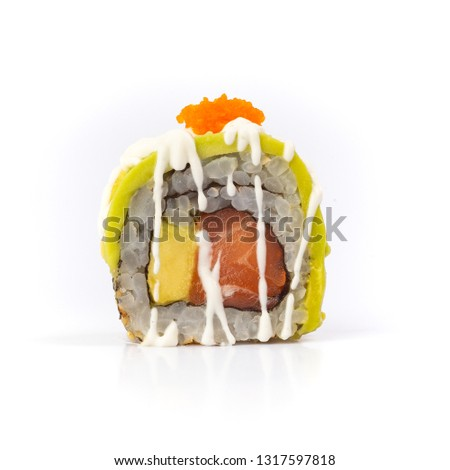 japanese sushi roll isolated on white background - picture