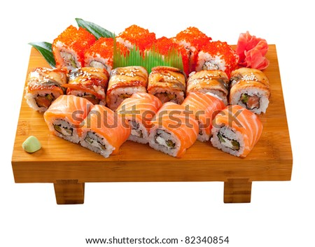 Roll Made of Smoked Fish Stock