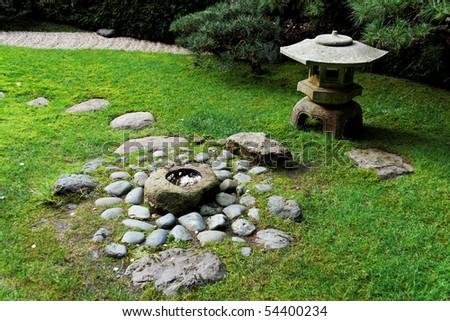 Japanese Tea Garden in the golden gate park in San Francisco