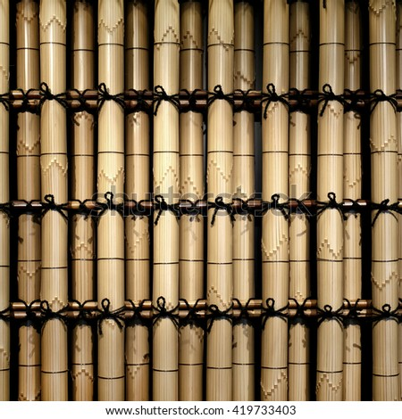 Japanese traditional art bamboo wall pattern #419733403