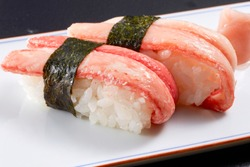 Japanese traditional food, Sushi. snow crab.