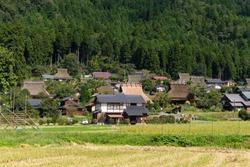 Japanese traditional old house miyama village
