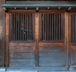 Japanese traditional wooden doors