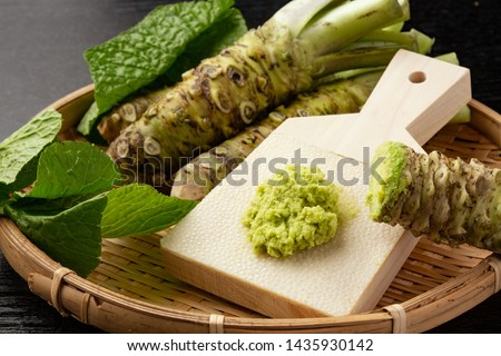 Japanese Wasabi Grated with Strawberry gravel