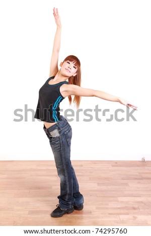 Japanese woman dances hip-hop