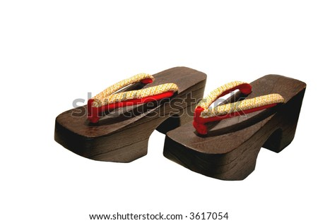 Japanese wooden shoes for under a kimono