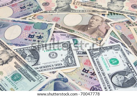 Japanese yen and US dollars
