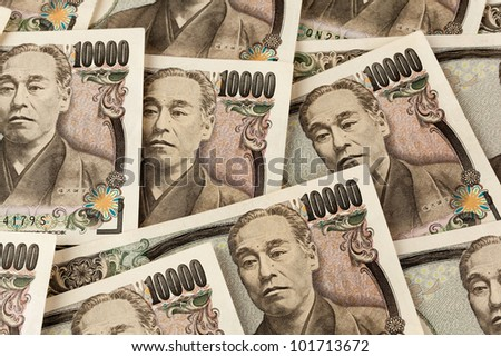 japanese yen bills. currency from japan