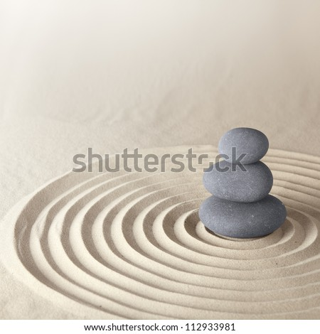 japanese zen garden meditation stone for concentration and relaxation sand and rock for harmony. Black Bedroom Furniture Sets. Home Design Ideas