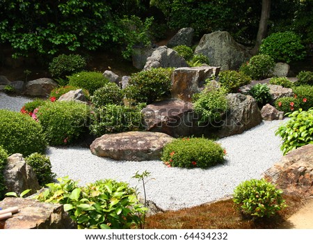 Japanese zen gardens in Kyoto