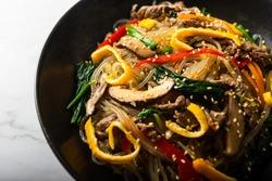 Japchae, Korean Glass noodle stir fry