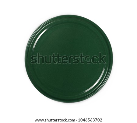Jar lid isolated on white background, top view Stockfoto ©