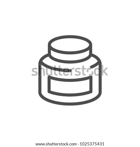 Jar line icon isolated on white