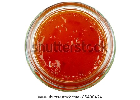 Jar Of Breakfast Marmalade Preserve Isolated On White N People Foto stock ©