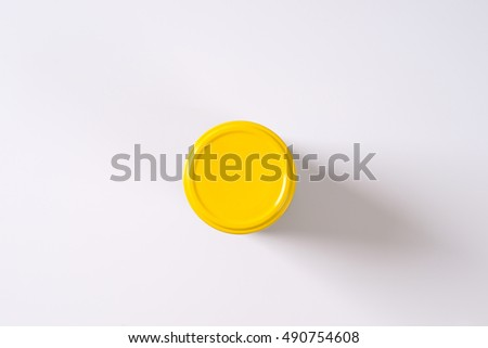 jar of pickled cucumbers on white background Stock foto ©