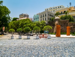 Jardin de la Princesa Park and Plaza de Hostos, Old San Juan, Puerto Rico, USA