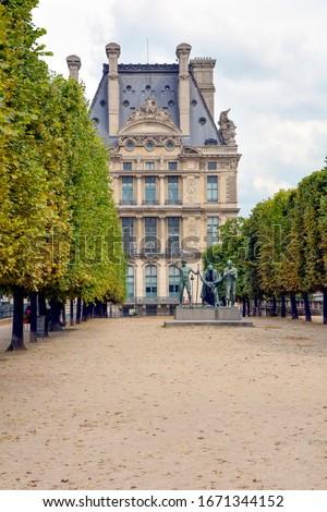 Jardin des Tuileries and the sculpture Les Fils de Caïn in Paris, France Photo stock ©
