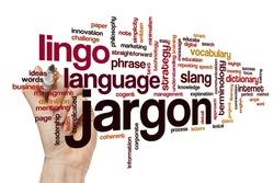 Jargon word cloud concept