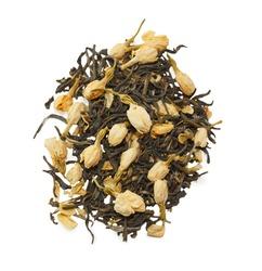 Jasmine Green Tea isolated on white background