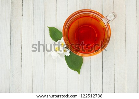 jasmine tea with jasmine flowers