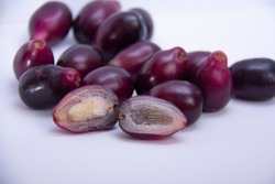 java plum jamun  with white background close up