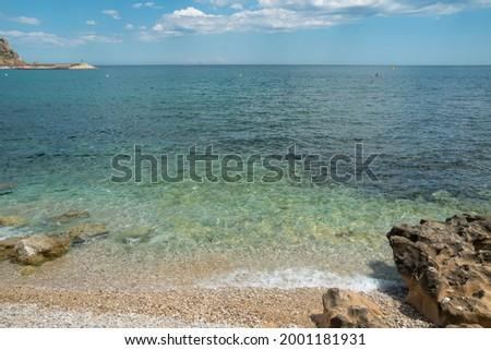 Javea Xabia Playa La Grava beach in Alicante Spain  Foto stock ©