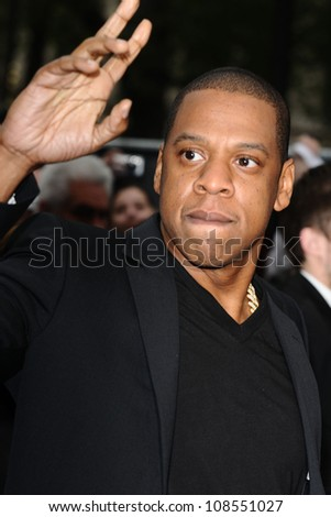 "Jay Z arriving for the ""Men in Black 3"" premiere at the Odeon Leicester Square, London. 16/05/2012 Picture by: Steve Vas / Featureflash"