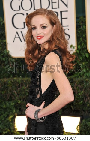 Jayma Mays at the 68th Annual Golden Globe Awards at the Beverly Hilton Hotel. January 16, 2011  Beverly Hills, CA Picture: Paul Smith / Featureflash