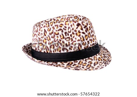 Jazz cap with pattern background isolated on white
