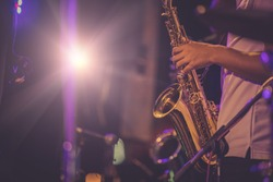 jazz musician playing the saxophone