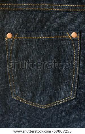 Jean cloth - close-up of a hip pocket