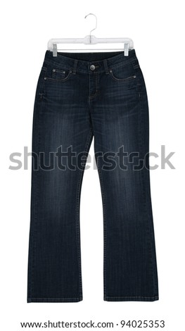 Jean Displayed on Store Hanger - stock photo