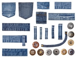 jeans and buttons