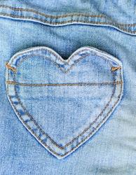 Jeans and heart shape pocket