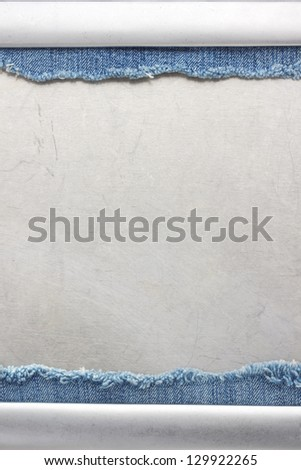 jeans and metal background texture